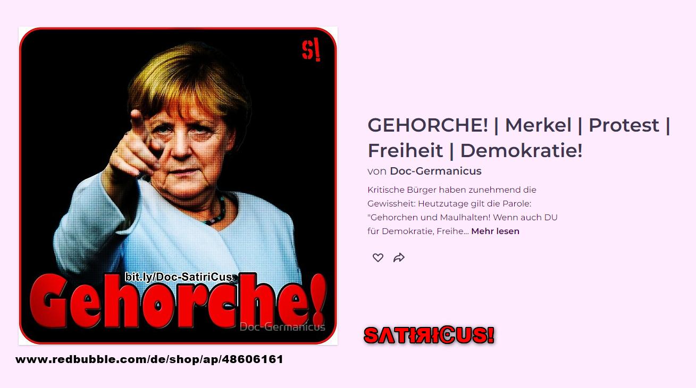 Merkel: GEHORCHE!