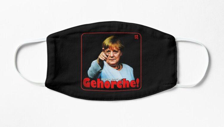 GEHORCHE!   Merkel   Protest   Freiheit   Demokratie!